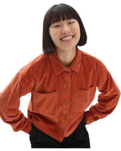 Красная рубашка свободного кроя Vans