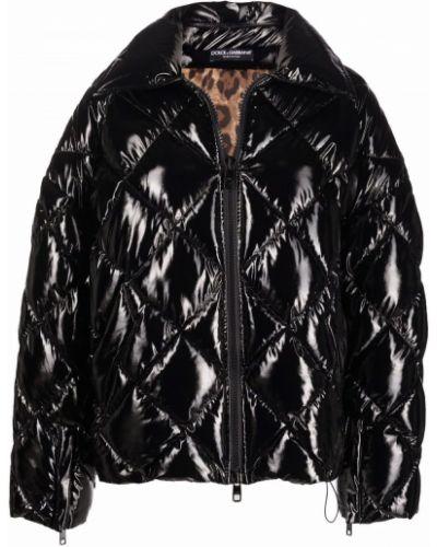 Длинная куртка - черная Dolce & Gabbana