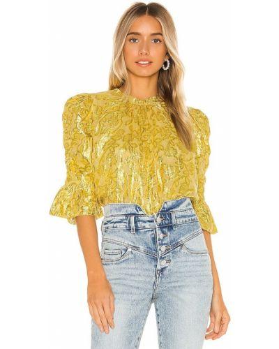 Восточная желтая блузка из вискозы Saylor
