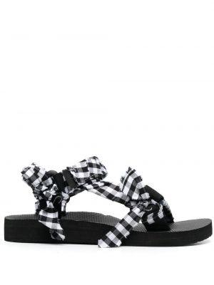 Czarne sandały peep toe z printem Arizona Love