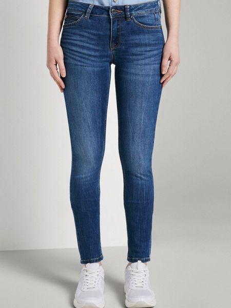 Синие джинсы-скинни узкого кроя Tom Tailor Denim