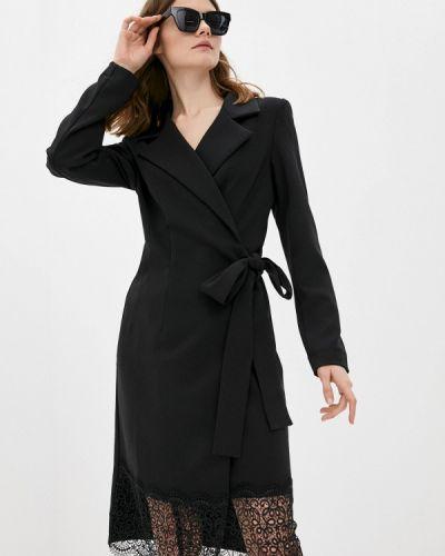 Платье с запахом - черное Adzhedo