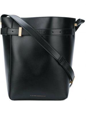 Skórzana torebka czarna Victoria Beckham