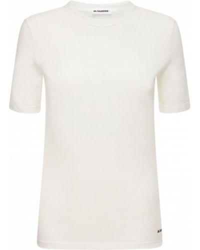 Трикотажная белая футболка Jil Sander