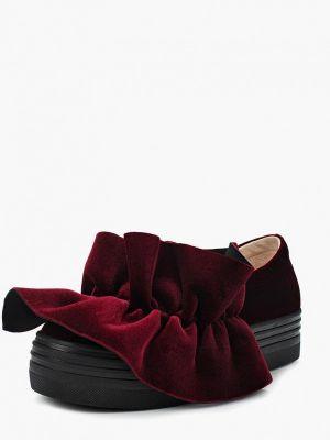 Текстильные красные слипоны Mallanee