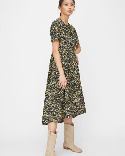 Расклешенное приталенное платье миди из поплина на молнии Marc O`polo