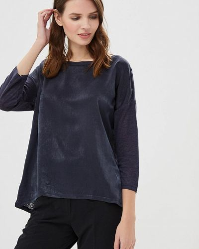 Блузка с длинным рукавом осенняя синий Only