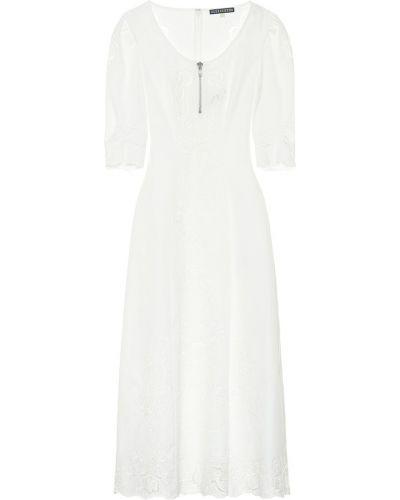 Платье миди с вышивкой из штапеля Alexachung