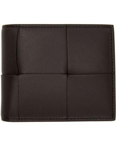 Коричневый кожаный кошелек для монет с карманами Bottega Veneta
