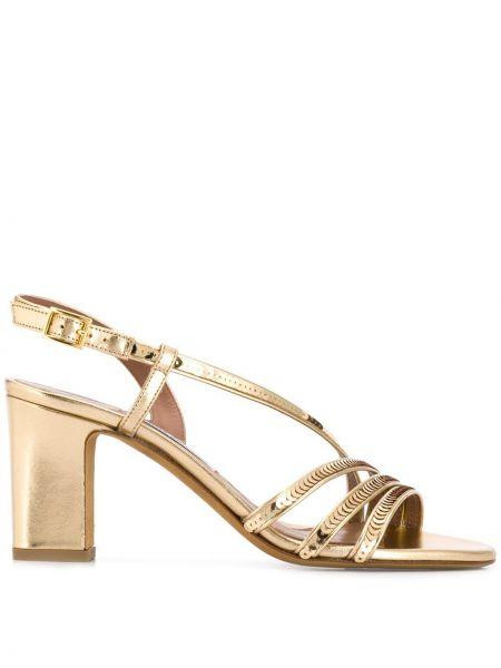 Złote sandały klamry Tabitha Simmons