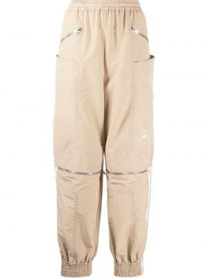 Хлопковые спортивные брюки с карманами на молнии Adidas By Stella Mccartney