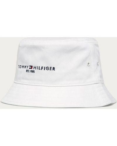 Biały kapelusz bawełniany Tommy Hilfiger