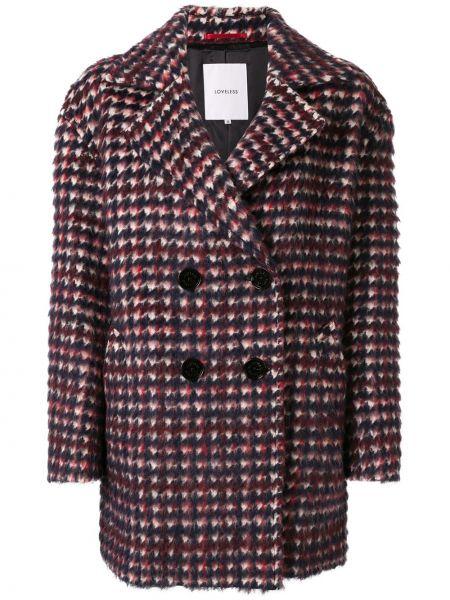 Шерстяное длинное пальто с капюшоном Loveless