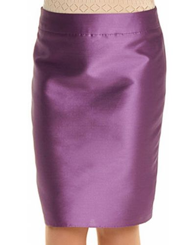 Юбка шелковая фиолетовый Armani Collezioni