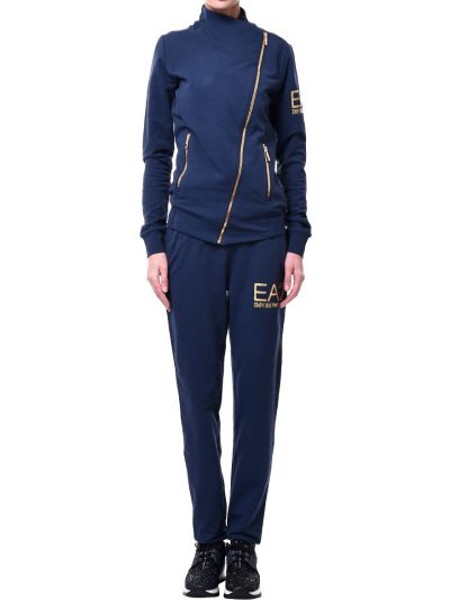 Хлопковый спортивный костюм - синий Ea7 Emporio Armani