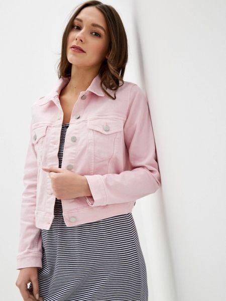 Джинсовая куртка весенняя розовая Gap