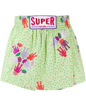 Хлопковые зеленые брюки с поясом винтажные Walter Van Beirendonck Pre-owned