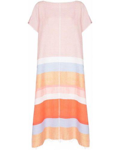 Хлопковое платье миди - розовое Lemlem