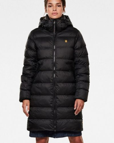Теплая черная зимняя куртка G-star