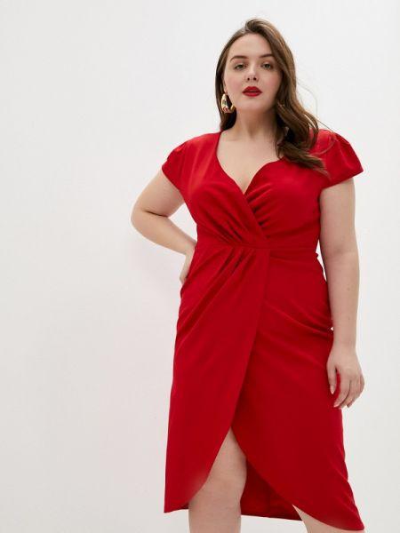 Платье - красное Goddiva Size Plus