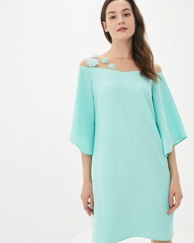 Платье прямое зеленый Yuna Style