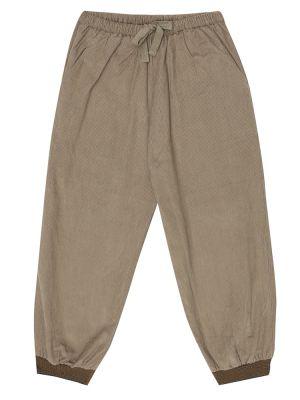 Ватные коричневые брюки вельветовые Caramel
