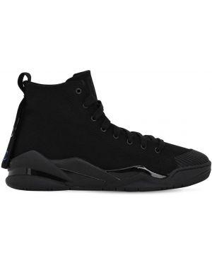Czarne sneakersy sznurowane koronkowe Casbia X Champion