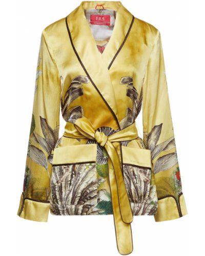 Текстильная желтая куртка с накладными карманами F.r.s. For Restless Sleepers