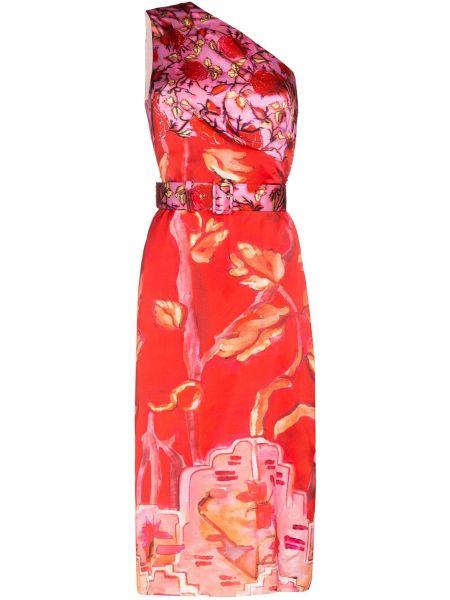 Платье миди с цветочным принтом с разрезами по бокам Peter Pilotto