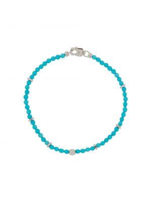 Niebieska bransoletka srebrna Tateossian