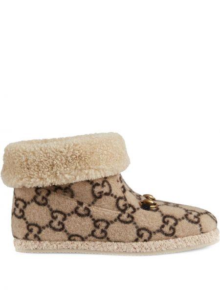 Buty czarne mieszkanie Gucci