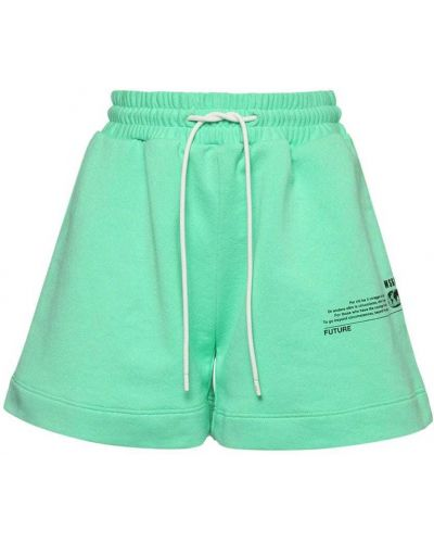 Хлопковые шорты с карманами мятные Msgm