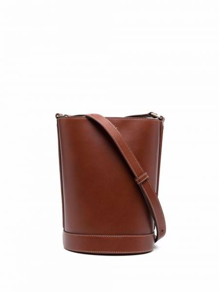 Коричневые кожаные брюки A.p.c.