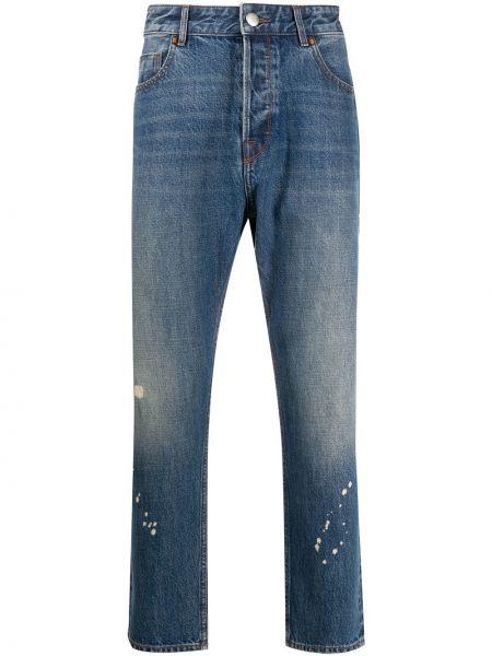 Bawełna bawełna niebieski jeansy z kieszeniami Emporio Armani