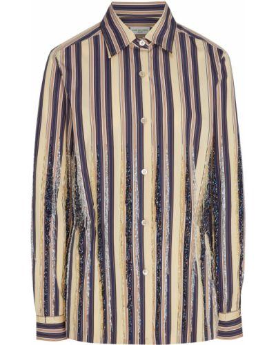 Рубашка в полоску с бисером Dries Van Noten