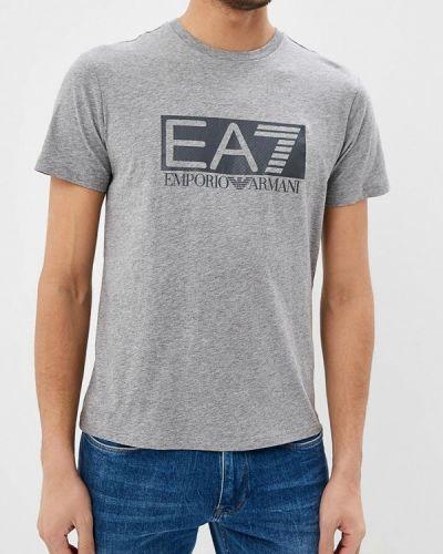 Серая футболка Ea7