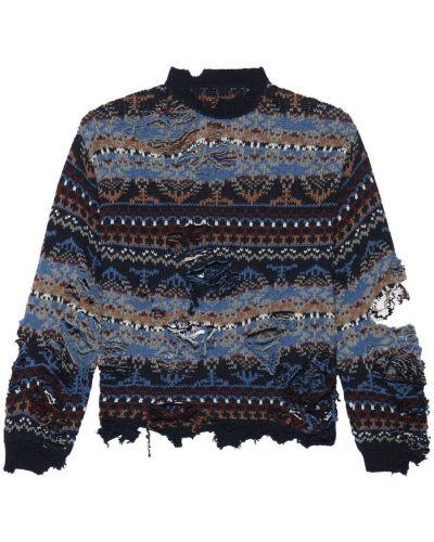 Niebieski sweter Balenciaga