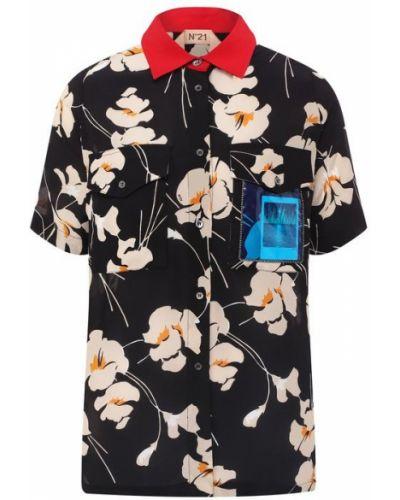 Рубашка с принтом с карманами No. 21