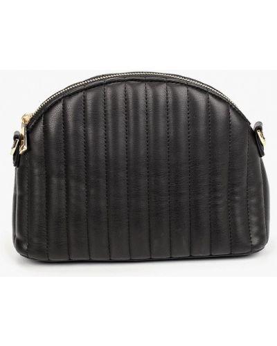 Кожаная черная сумка через плечо Violeta By Mango