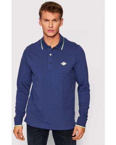 Niebieska koszulka Replay
