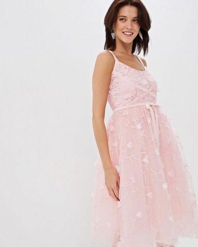 Вечернее платье розовый весеннее Incity