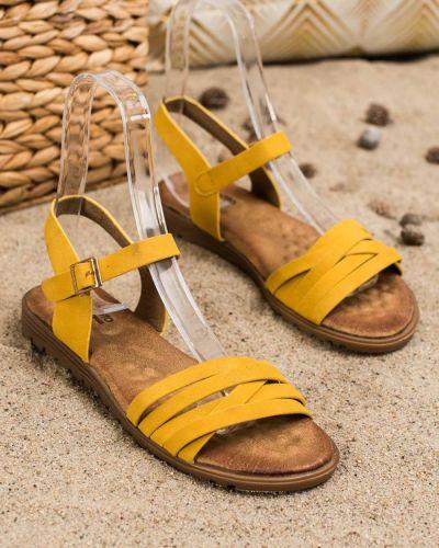 Klasyczne złote sandały Evento
