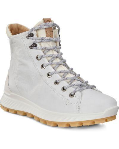 Высокие кроссовки белый городские Ecco