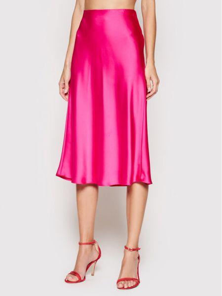 Różowa spódnica midi Lauren Ralph Lauren