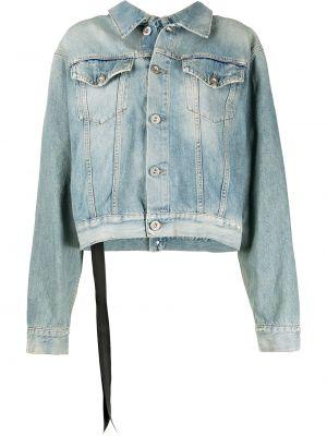 Классическая синяя джинсовая куртка со вставками с воротником Unravel Project