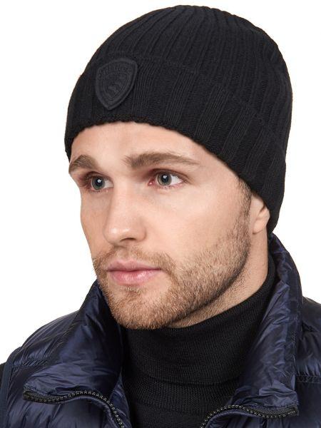 Кашемировая шапка - черная Blauer
