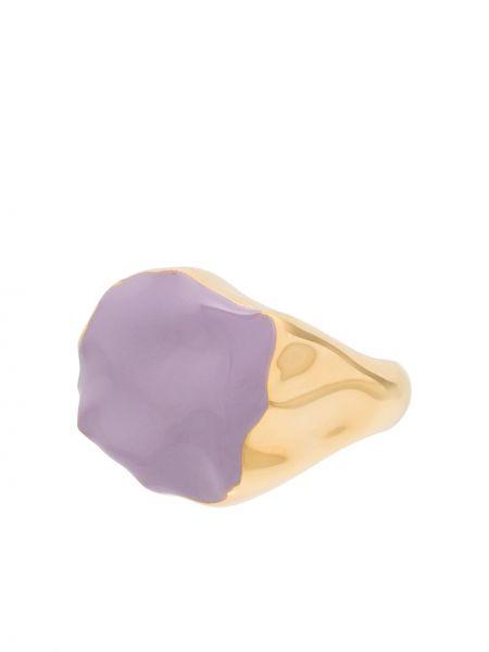 Niebieski złoty pierścionek pozłacany Joanna Laura Constantine
