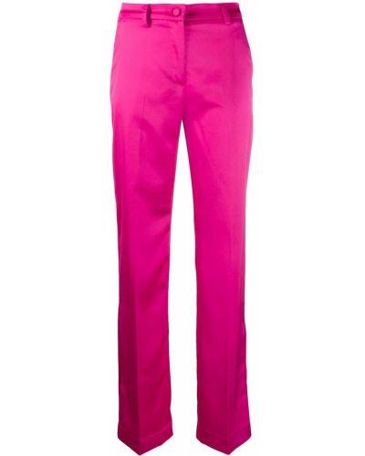 Прямые розовые брюки с высокой посадкой с потайной застежкой Hebe Studio