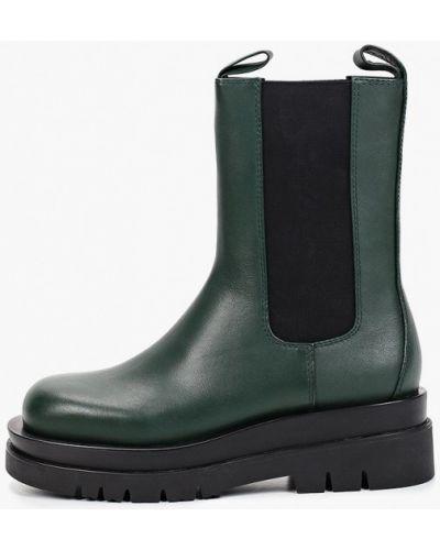 Зеленые ботинки из искусственного меха Der Spur