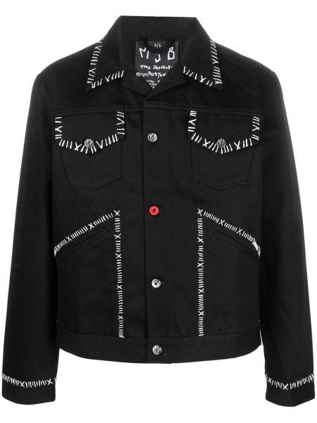 Czarna długa kurtka bawełniana z długimi rękawami Mjb Marc Jacques Burton